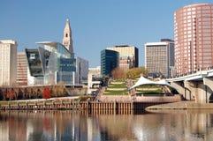 Skyline de Hartford Imagem de Stock Royalty Free