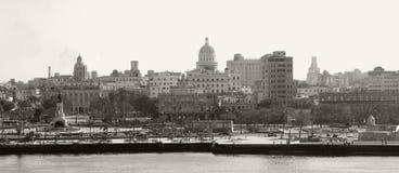 Skyline de Havana - Sepia tonificado fotos de stock royalty free