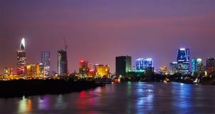 Skyline de Ho Chi Minh fotografia de stock royalty free