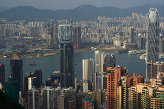 Skyline de Hong Kong Foto de Stock Royalty Free