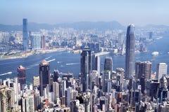 Skyline de Hong Kong Imagens de Stock