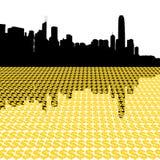 Skyline de Hong Kong com dólar Imagens de Stock Royalty Free