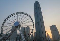 Skyline de Hong Kong do habour fotografia de stock