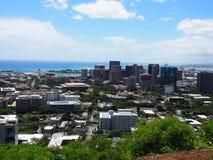 Skyline de Honolulu Fotos de Stock Royalty Free