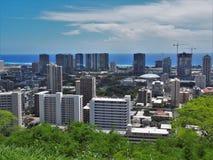 Skyline de Honolulu Foto de Stock Royalty Free