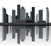 Skyline de Houston ilustração do vetor
