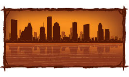 Skyline de Houston ilustração stock