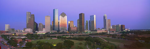 Skyline de Houston Fotos de Stock Royalty Free