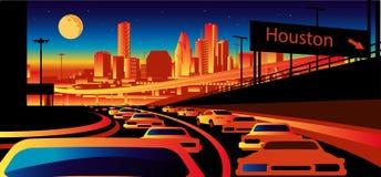 Skyline de Houston Texas ilustração do vetor
