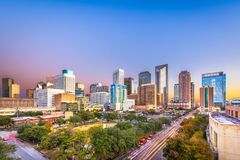 Skyline de Houston, Texas, EUA imagem de stock royalty free