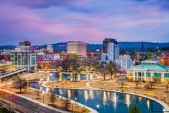 Skyline de Huntsville, Alabama, EUA imagens de stock royalty free