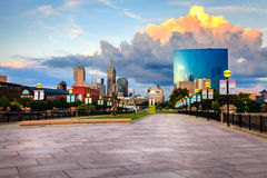 Skyline de Indianapolis Foto de Stock Royalty Free