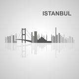 Skyline de Istambul para seu projeto Foto de Stock Royalty Free