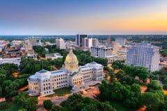 Skyline de Jackson, Mississippi Imagens de Stock
