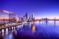 Skyline de Jacksonville, Florida fotos de stock