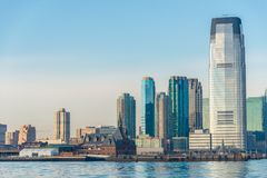 Skyline de Jersey City Fotos de Stock Royalty Free