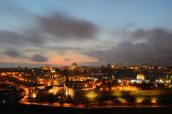 Skyline de Jerusalem Imagens de Stock