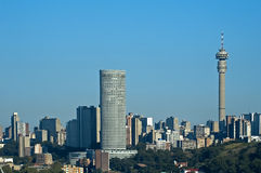 Skyline de Joanesburgo fotografia de stock royalty free