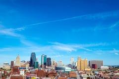 Skyline de Kansas City, Missouri Fotografia de Stock