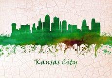 Skyline de Kansas City Missouri ilustração royalty free