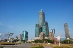 Skyline de kaohsiung Imagens de Stock Royalty Free
