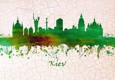 Skyline de Kiev Ucrânia ilustração stock