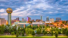 Skyline de Knoxville, Tennessee, EUA fotografia de stock