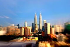 Skyline de Kuala Lumpur Foto de Stock Royalty Free