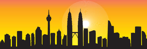 Skyline de Kuala Lumpur Fotografia de Stock Royalty Free