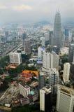 A skyline de Kuala Lumpur, Malásia Fotografia de Stock Royalty Free