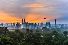 Skyline de Kuala Lumpur, Malaysia imagens de stock royalty free