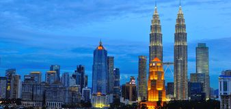 Skyline de Kuala Lumpur, Malaysia Imagem de Stock