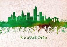 Skyline de Kuwait City ilustração do vetor