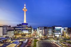 Skyline de Kyoto Foto de Stock Royalty Free