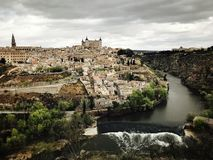 Skyline de la ciudad de Toledo España Fotos de Stock Royalty Free