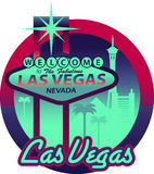 Skyline de Las Vegas ilustração stock