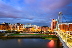 Skyline de Leeds Foto de Stock Royalty Free