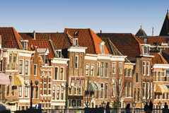 Skyline de Leiden fotografia de stock