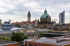 Skyline de Leipzig Imagens de Stock