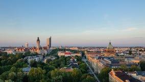 Skyline de Leipzig Foto de Stock Royalty Free