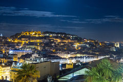 Skyline de Lisboa foto de stock royalty free