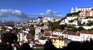 Skyline de Lisboa Alfama, arquitetura da cidade com arquitetura bonita fotografia de stock royalty free