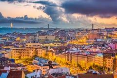 Skyline de Lisboa, Portugal fotos de stock