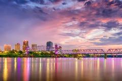 Skyline de Little Rock, Arkansas, EUA fotos de stock royalty free