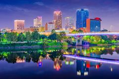 Skyline de Little Rock, Arkansas, EUA imagens de stock
