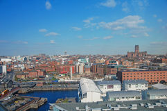 Skyline de Liverpool Foto de Stock Royalty Free
