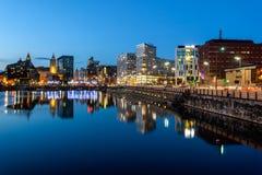 Skyline de Liverpool imagem de stock royalty free
