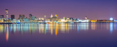 Skyline de Liverpool Fotografia de Stock Royalty Free