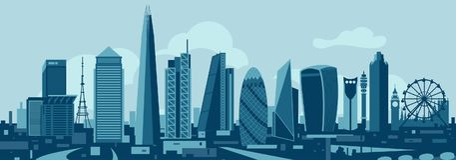Skyline de Londres Imagem de Stock Royalty Free