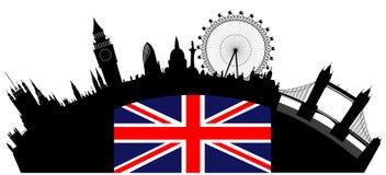Skyline de Londres ilustração stock